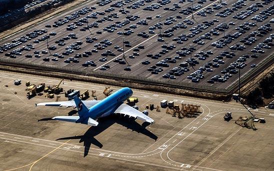 Parken Flugplatz