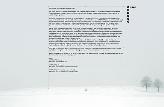 Ommwriter Textverarbeitung